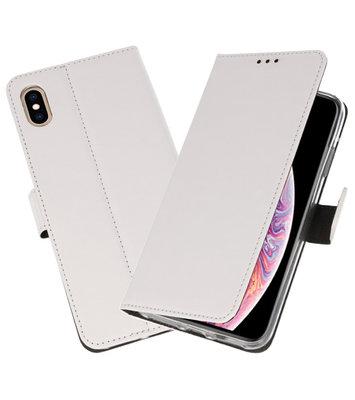 Wit Wallet Cases Hoesje voor iPhone XS Max