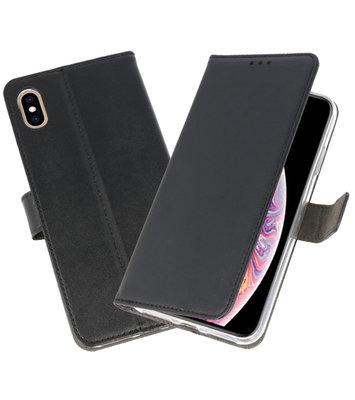 Zwart Wallet Cases Hoesje voor iPhone XS Max