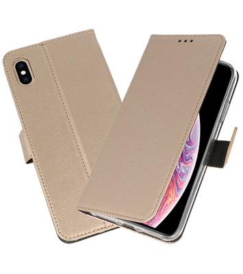 Goud Wallet Cases Hoesje voor iPhone XS Max