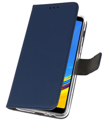Wallet Cases Hoesje voor Galaxy A7 (2018) Navy
