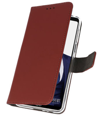 Wallet Cases Hoesje voor Huawei Note 10 Bruin