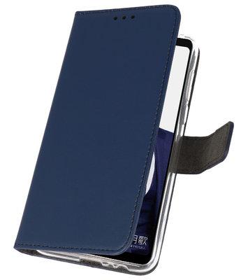 Wallet Cases Hoesje voor Huawei Note 10 Navy