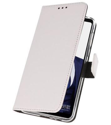 Wallet Cases Hoesje voor Huawei Note 10 Wit