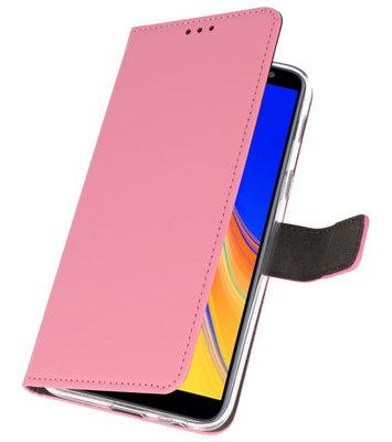 Wallet Cases Hoesje voor Galaxy J4 Plus Roze