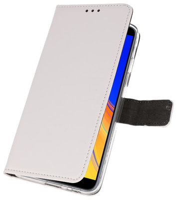 Wallet Cases Hoesje voor Galaxy J4 Plus Wit