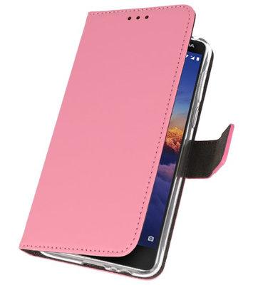 Wallet Cases Hoesje voor Nokia 3.1 Roze