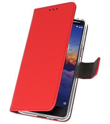 Wallet Cases Hoesje voor Nokia 3.1 Rood