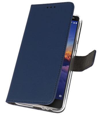 Wallet Cases Hoesje voor Nokia 3.1 Navy