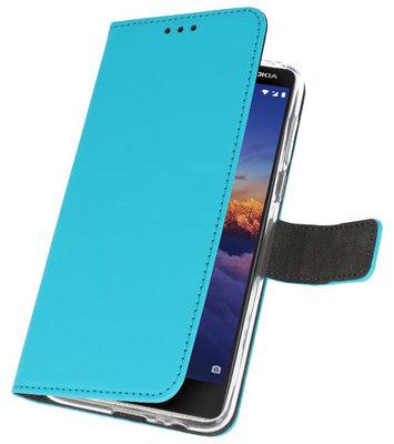 Wallet Cases Hoesje voor Nokia 3.1 Blauw