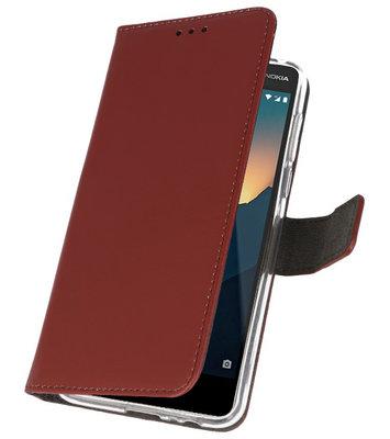 Wallet Cases Hoesje voor Nokia 2.1 Bruin