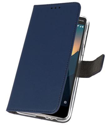 Wallet Cases Hoesje voor Nokia 2.1 Navy