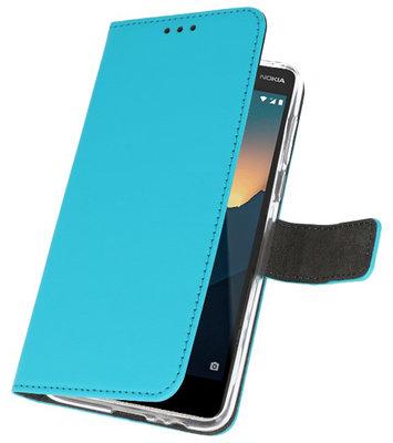 Wallet Cases Hoesje voor Nokia 2.1 Blauw