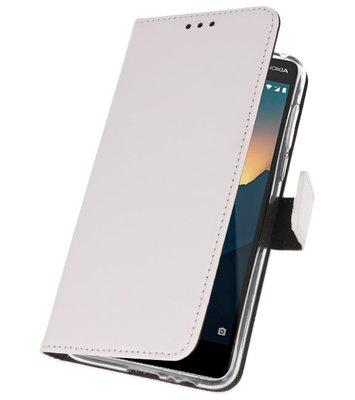Wallet Cases Hoesje voor Nokia 2.1 Wit