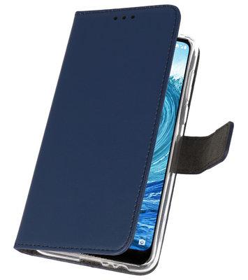 Wallet Cases Hoesje voor Nokia X5 5.1 Plus Navy