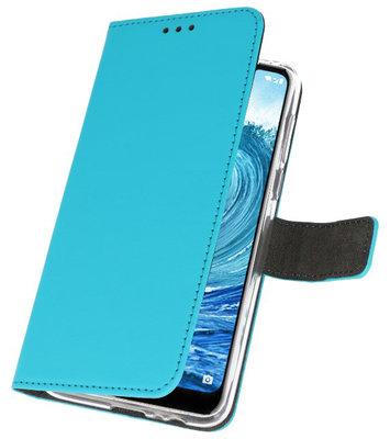Wallet Cases Hoesje voor Nokia X5 5.1 Plus Blauw