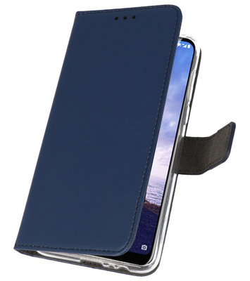 Wallet Cases Hoesje voor Nokia X6 6.1 Plus Navy