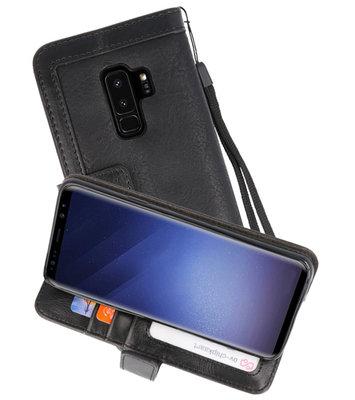 Luxe Portemonnee Telefoonhoesje voor Galaxy S9 Plus Zwart