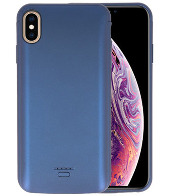 Battery Case voor iPhone XS Max 5000 mAh Blauw
