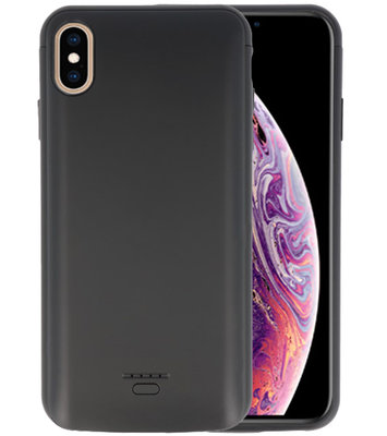 Battery Case voor iPhone XS Max 5000 mAh Zwart
