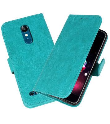 Bookstyle Wallet Cases Hoesje voor LG K11 Groen