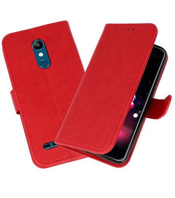 Bookstyle Wallet Cases Hoesje voor LG K11 Rood