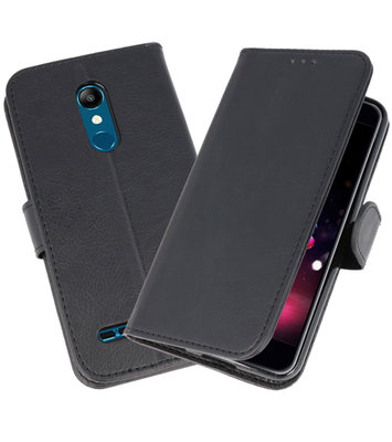 Bookstyle Wallet Cases Hoesje voor LG K11 Zwart