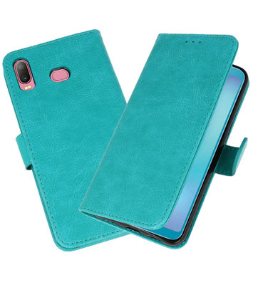 Bookstyle Wallet Cases Hoesje voor Samsung Galaxy A6s Groen