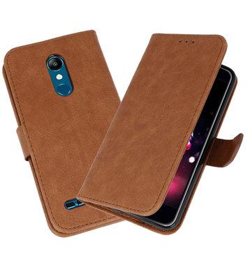 Bookstyle Wallet Cases Hoesje voor LG K11 Bruin