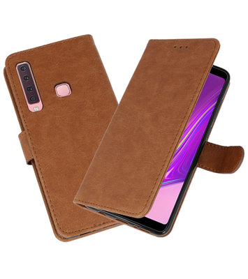 Bookstyle Wallet Cases Hoesje voor Samsung Galaxy A9 2018 Bruin