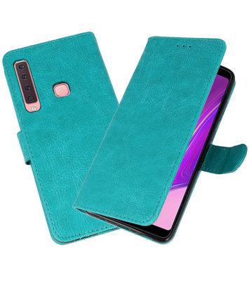 Bookstyle Wallet Cases Hoesje voor Samsung Galaxy A9 2018 Groen