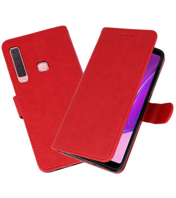 Bookstyle Wallet Cases Hoesje voor Samsung Galaxy A9 2018 Rood