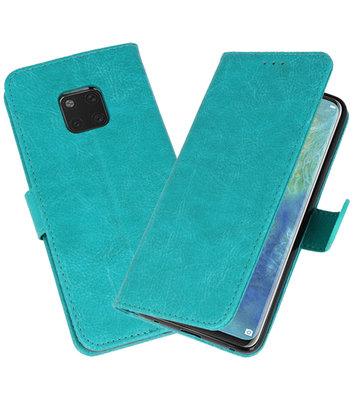 Bookstyle Wallet Cases Hoesje voor Huawei Mate 20 Pro Groen
