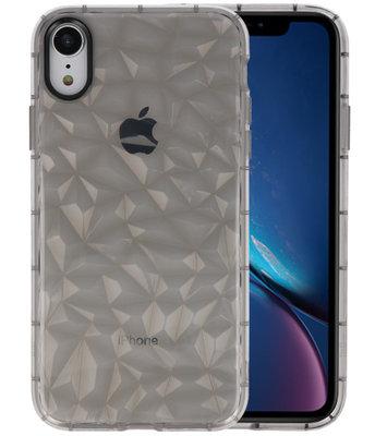 Grijs Geometric Style Siliconen Hoesjes voor iPhone XR