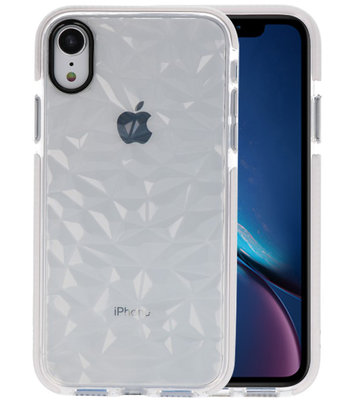 Transparant Geometric Style Siliconen Hoesjes voor iPhone XR