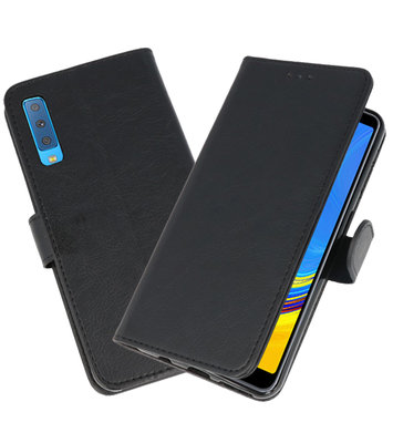 Bookstyle Wallet Cases Hoesje voor Samsung Galaxy A7 2018 Zwart