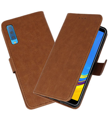 Bookstyle Wallet Cases Hoesje voor Samsung Galaxy A7 2018 Bruin