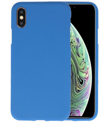 Color TPU Hoesje voor iPhone XS / X Navy
