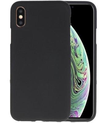 Color TPU Hoesje voor iPhone XS / X Zwart