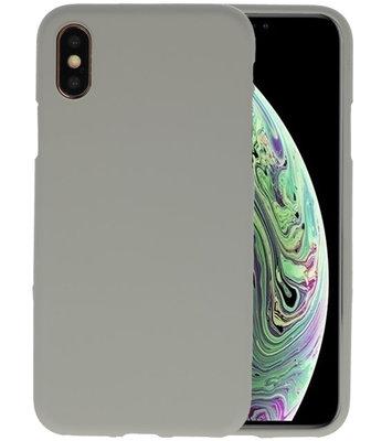 Color TPU Hoesje voor iPhone XS / X Grijs