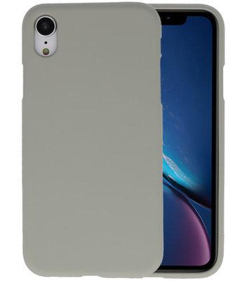 Color TPU Hoesje voor iPhone XR Grijs