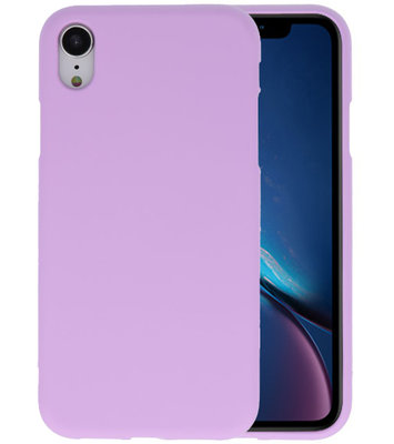 Color TPU Hoesje voor iPhone XR Paars