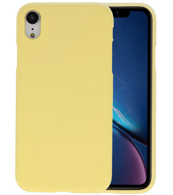 Color TPU Hoesje voor iPhone XR Geel