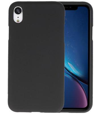 Color TPU Hoesje voor iPhone XR Zwart