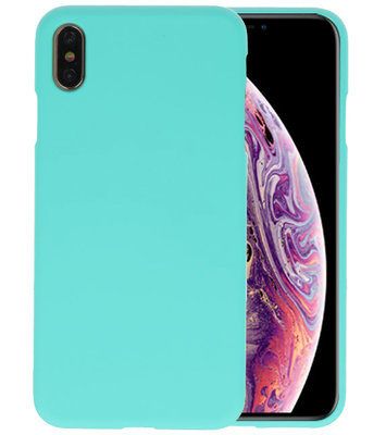 Color TPU Hoesje voor iPhone XS Max Turquoise