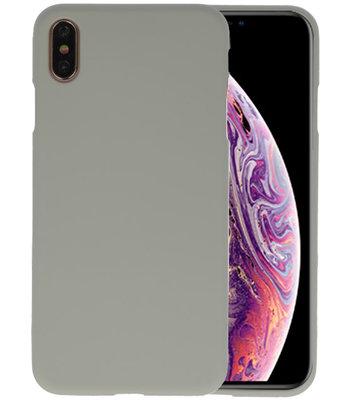 Color TPU Hoesje voor iPhone XS Max Grijs