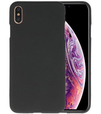 Color TPU Hoesje voor iPhone XS Max Zwart