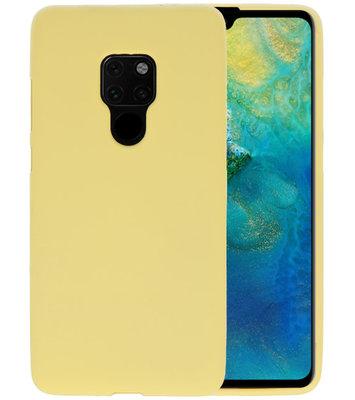 Color TPU Hoesje voor Huawei Mate 20 Geel