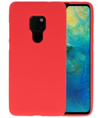 Color TPU Hoesje voor Huawei Mate 20 Rood
