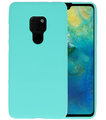Color TPU Hoesje voor Huawei Mate 20 Turquoise