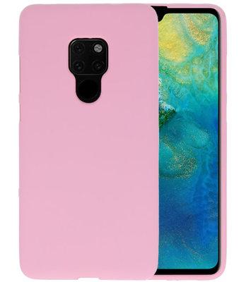 Color TPU Hoesje voor Huawei Mate 20 Roze